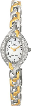 Японские наручные  женские часы Q&Q F303404Y. Коллекция Elegant