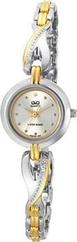 Японские наручные  женские часы Q&Q F323401Y. Коллекция Elegant