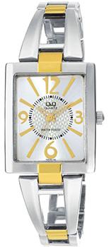Японские наручные  женские часы Q&Q F355J404Y. Коллекция Elegant