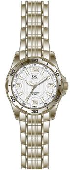Японские наручные  женские часы Q&Q F496J004Y. Коллекция Smile Solar