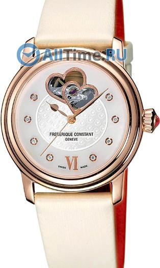 Женские наручные швейцарские часы в коллекции Heart Beat Frederique Constant