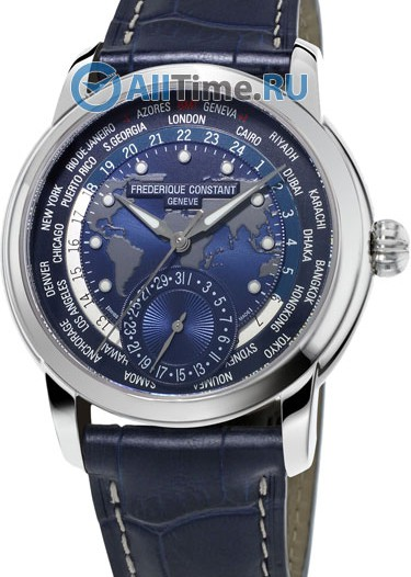 Мужские наручные швейцарские часы в коллекции Worldtimer Frederique Constant