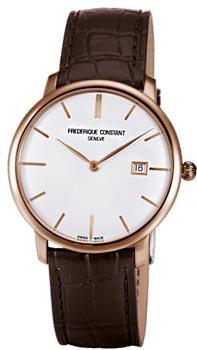 Швейцарские наручные  мужские часы Frederique Constant FC306V4S9. Коллекция Slim Line Automatic