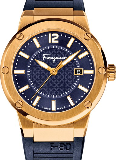 Мужские наручные швейцарские часы в коллекции F-80 Salvatore Ferragamo
