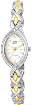 Японские наручные  женские часы Q&Q GT55401Y. Коллекция Elegant