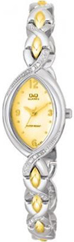 Японские наручные  женские часы Q&Q GT55403Y. Коллекция Elegant