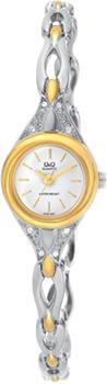 Японские наручные  женские часы Q&Q GT67401Y. Коллекция Elegant