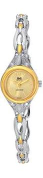 Японские наручные  женские часы Q&Q GT67403Y. Коллекция Elegant