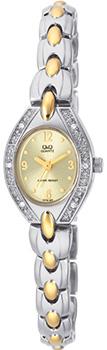 Японские наручные  женские часы Q&Q GT79403Y. Коллекция Elegant