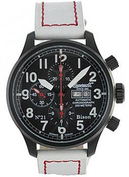 fashion наручные  мужские часы Ingersoll IN1615WBK. Коллекция Bison