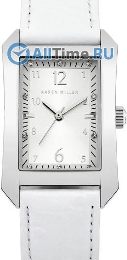 Женские наручные fashion часы в коллекции Rectangular Karen Millen