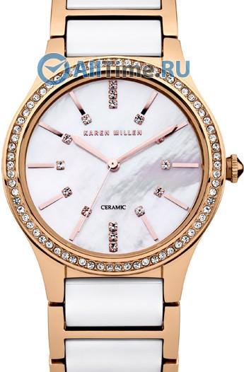 Женские наручные fashion часы в коллекции Ceramic Karen Millen