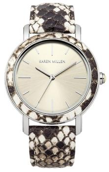 fashion наручные  женские часы Karen Millen KM137CSP. Коллекция Snake