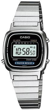 Японские наручные  женские часы Casio LA670WEA-1E. Коллекция Standart Digital