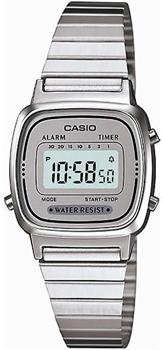Японские наручные  женские часы Casio LA670WEA-7E. Коллекция Standart Digital