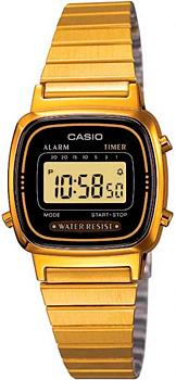 Японские наручные  женские часы Casio LA670WEGA-1E. Коллекция Standart Digital