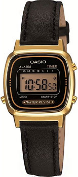 Японские наручные  женские часы Casio LA670WEGL-1E. Коллекция Standart Digital