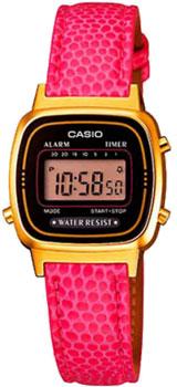 Японские наручные  женские часы Casio LA670WEGL-4A. Коллекция Standart Digital