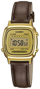 Японские наручные  женские часы Casio LA670WEGL-9E. Коллекция Standart Digital