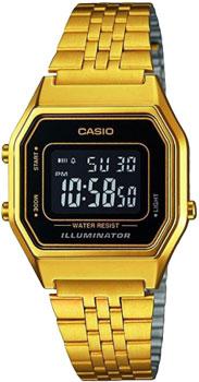 Японские наручные  женские часы Casio LA680WEGA-1E. Коллекция Illuminator