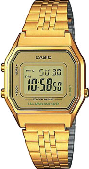 Японские наручные  женские часы Casio LA680WEGA-9E. Коллекция Illuminator