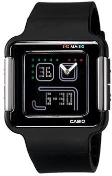 Японские наручные  женские часы Casio LCF-20-1D. Коллекция PopTone
