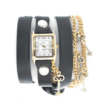 fashion наручные  женские часы La Mer LMCW1032-GLD. Коллекция С цепочками и подвесками