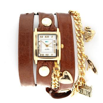 fashion наручные  женские часы La Mer LMCW4020BR. Коллекция С цепочками и подвесками