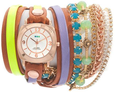 fashion наручные  женские часы La Mer LMMULTI2004. Коллекция С цепочками и подвесками