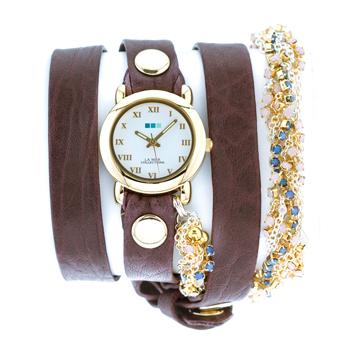 fashion наручные  женские часы La Mer LMMULTI6000-B. Коллекция С цепочками и подвесками