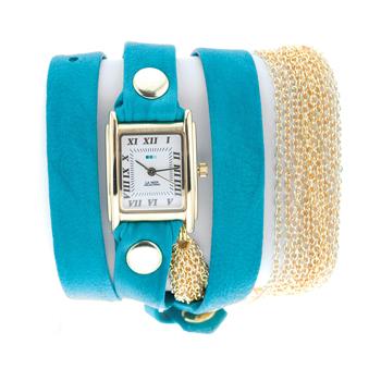 fashion наручные  женские часы La Mer LMMULTICW1021TEAL. Коллекция С цепочками и подвесками