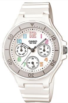 Японские наручные  женские часы Casio LRW-250H-7B. Коллекция Standart