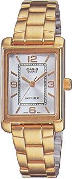 Японские наручные  женские часы Casio LTP-1234G-7A. Коллекция Classic&digital timer