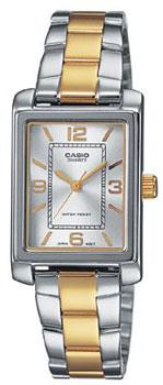 Японские наручные  женские часы Casio LTP-1234PSG-7A. Коллекция Standard Analog