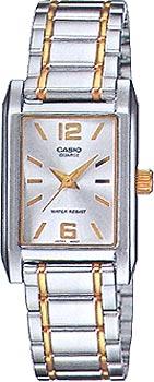 Японские наручные  женские часы Casio LTP-1235SG-7A. Коллекция Classic&digital timer