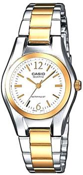Японские наручные  женские часы Casio LTP-1280PSG-7A. Коллекция Standard Analog