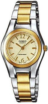Японские наручные  женские часы Casio LTP-1280PSG-9A. Коллекция Standard Analog