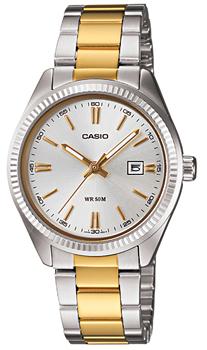 Японские наручные  женские часы Casio LTP-1302SG-7A. Коллекция Metal Fashion