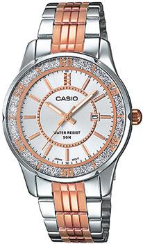 Японские наручные  женские часы Casio LTP-1358RG-7A. Коллекция Standard Analog