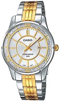 Японские наручные  женские часы Casio LTP-1358SG-7A. Коллекция Standard Analog