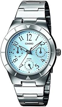 Японские наручные  женские часы Casio LTP-2069D-2A2. Коллекция Standart