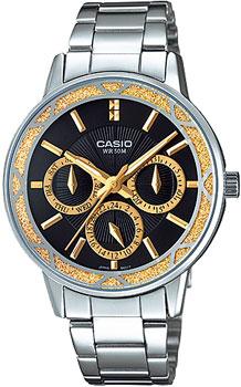 Японские наручные  женские часы Casio LTP-2087D-1A. Коллекция Standard Analog