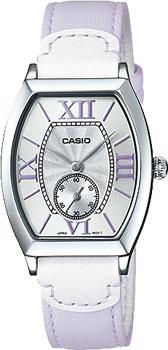 Японские наручные  женские часы Casio LTP-E114L-6A. Коллекция Standard Analog
