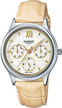 Японские наручные  женские часы Casio LTP-E306L-7A. Коллекция Standard Analog