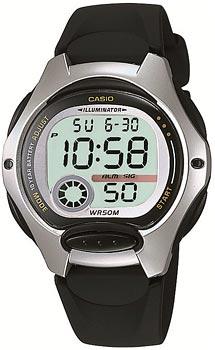 Японские наручные  женские часы Casio LW-200-1A. Коллекция Classic&digital timer