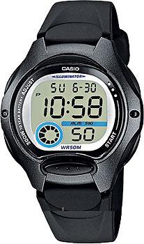 Японские наручные  женские часы Casio LW-200-1B. Коллекция Classic&digital timer