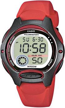 Японские наручные  женские часы Casio LW-200-4A. Коллекция Classic&digital timer