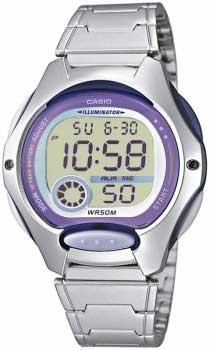 Японские наручные  женские часы Casio LW-200D-6A. Коллекция Classic&digital timer