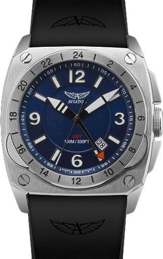 Мужские наручные швейцарские часы в коллекции Mig-29 Cockpit GMT Aviator