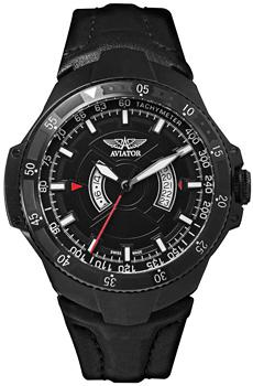 Швейцарские наручные  мужские часы Aviator M.1.01.5.001.4. Коллекция MIG-29 GMT